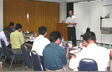 a picture of training in Thailand